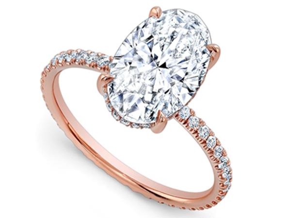Cincin Berlian Kombinasi Emas Cantik