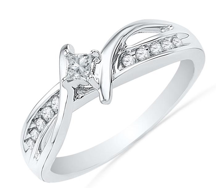 Cincin Emas Putih Elegan