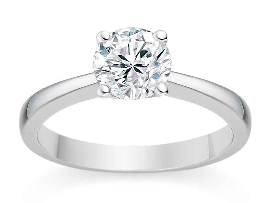 cincin emas putih sederhana