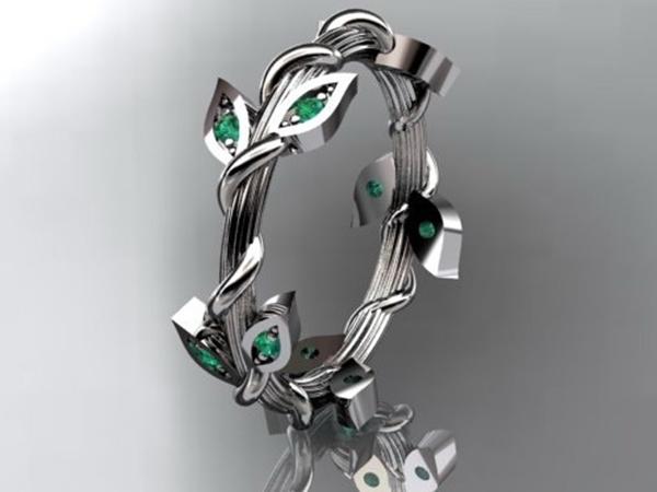 Model Cincin Nikah Unik Floral Indah