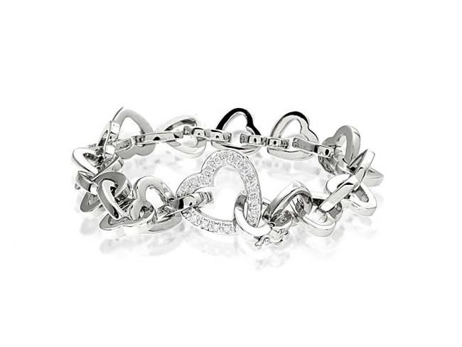 Gelang Emas Putih Kombinasi Berlian