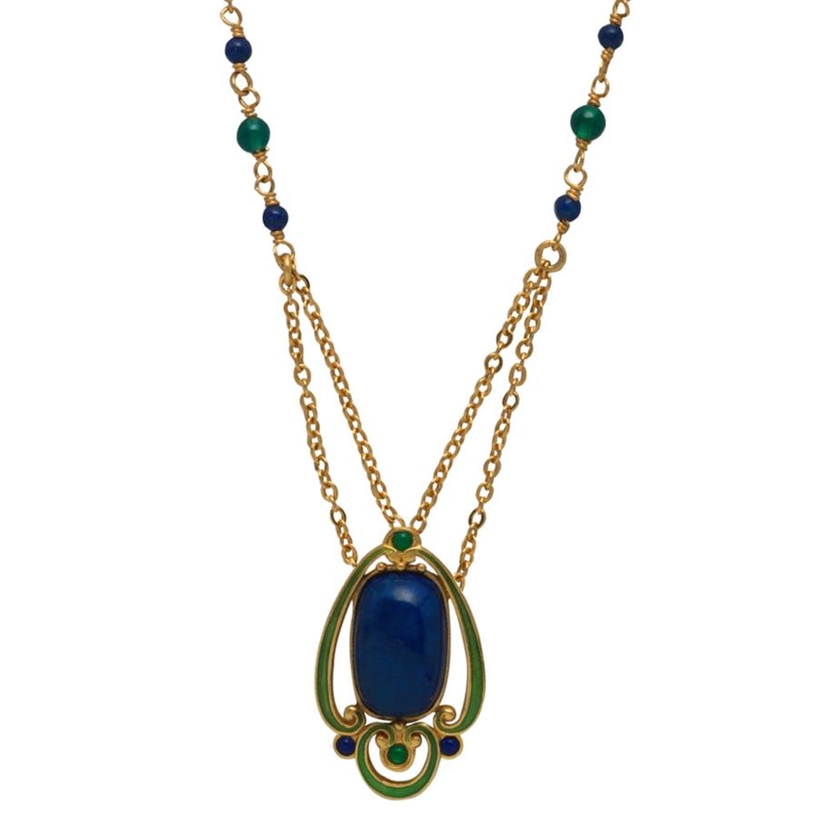 Kalung Liontin Biru Emerald