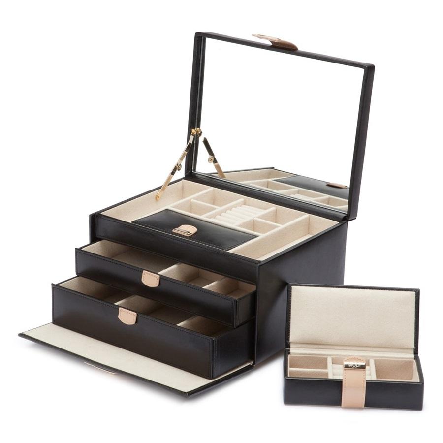 Kotak Perhiasan Hitam Elegan