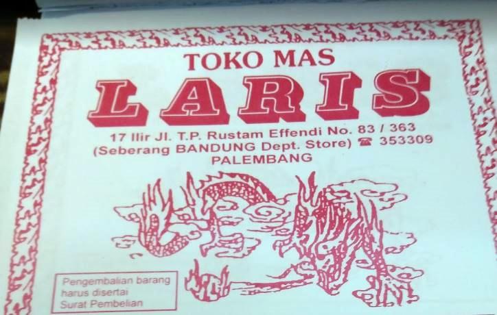 Toko Mas Laris Palembang