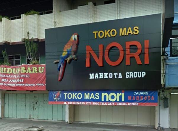 Toko mas Nori Mahkota Group Surakarta